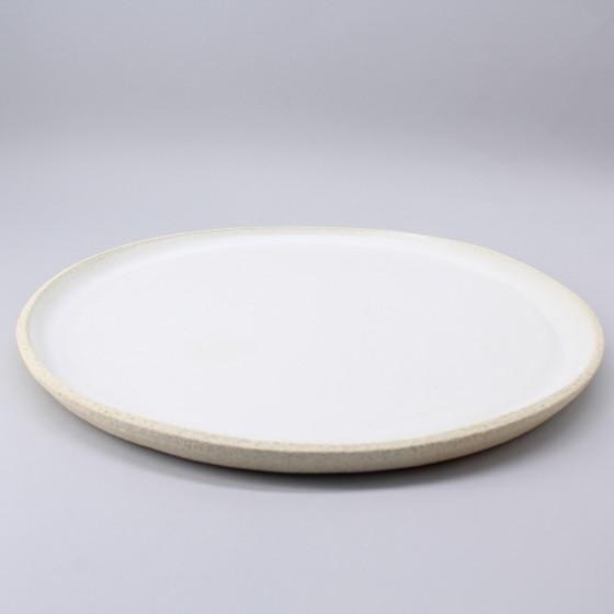 Assiette en grès blanc...