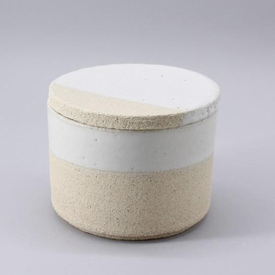 Small box in eggshell white...