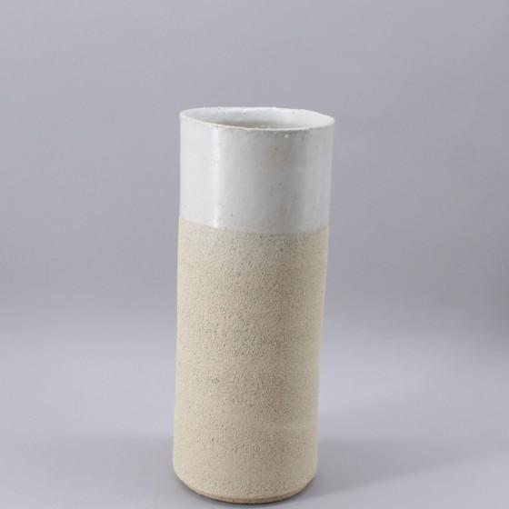 Large white stoneware vase...