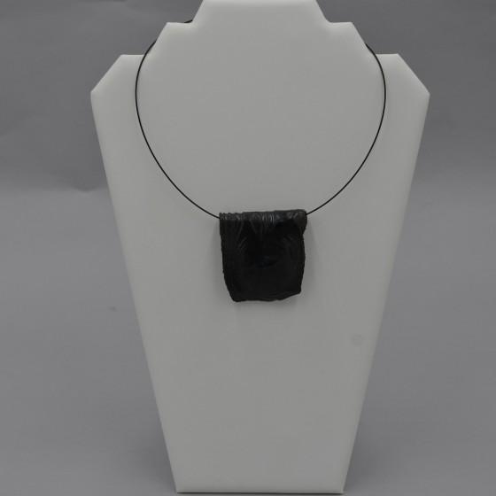 Collier tour de cou grès noir