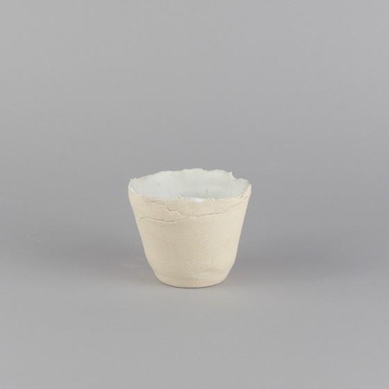 White stoneware goblet