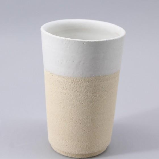 Large eggshell white goblet...